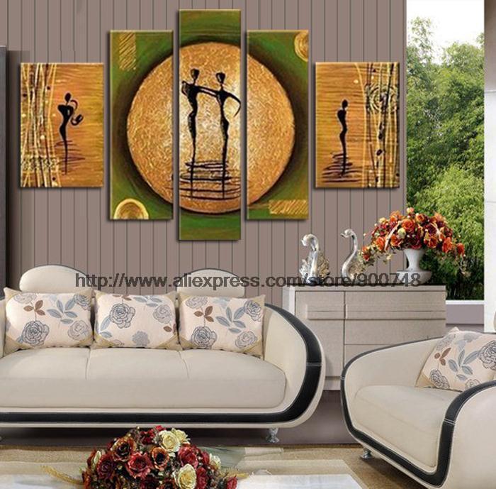 Aliexpress Com Buy High Quality Thick Flocked Modern: Thick Texture Huge Modern Wall Art Asian Wall Art Painting