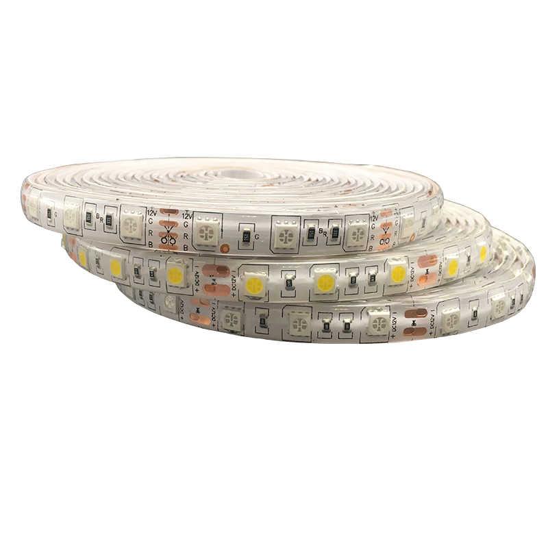 Listwy rgb LED światło 3528 5050 SMD 5M 60 diod LED/m LED elastyczny pasek światła ir pilot zdalnego sterowania 12V 3528/5050 zasilacz taśma LED