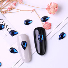 10 pieces crystal nail Rhinestone 3D Rhinestones big drop of water stones Nail Art decorations accessories manic