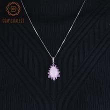 Pendentifs en pierre précieuse de calcédoine rose naturelle, collier en argent Sterling 925, pour fiançailles de mariage, pour femmes
