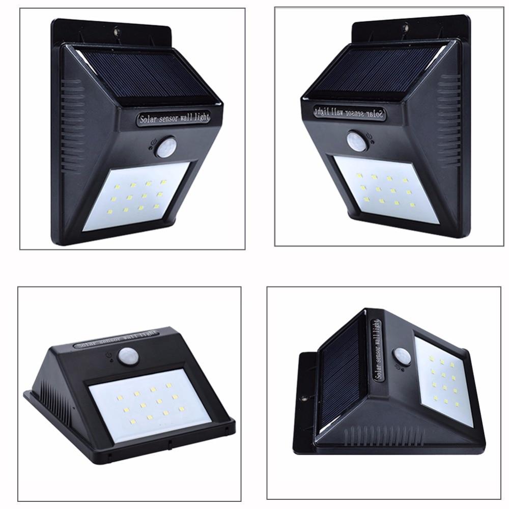 Lâmpadas Solares ao ar livre À prova Function : Motion Sensor Wireless Solar Power Lamp