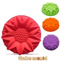 Sunflower silica Fondant Cake Mold Food Grade Silicone Cake Mold for Kitchen Baking Decoration and Tool random color A6