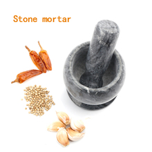 Фотография 1.9KG Stone Kitchen Garlic Mills Mortar and Pestle Kitchen Mills Kitchen Minced Tool Mortar Grinder Kitchen Accessories