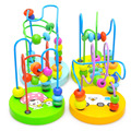 Juguete de Aprendizaje de la Primera Infancia Los Niños Niños Del Bebé de Colores Juguetes De Madera Mini Alrededor Perlas de Juguetes Educativos Para Niños Color Al Azar