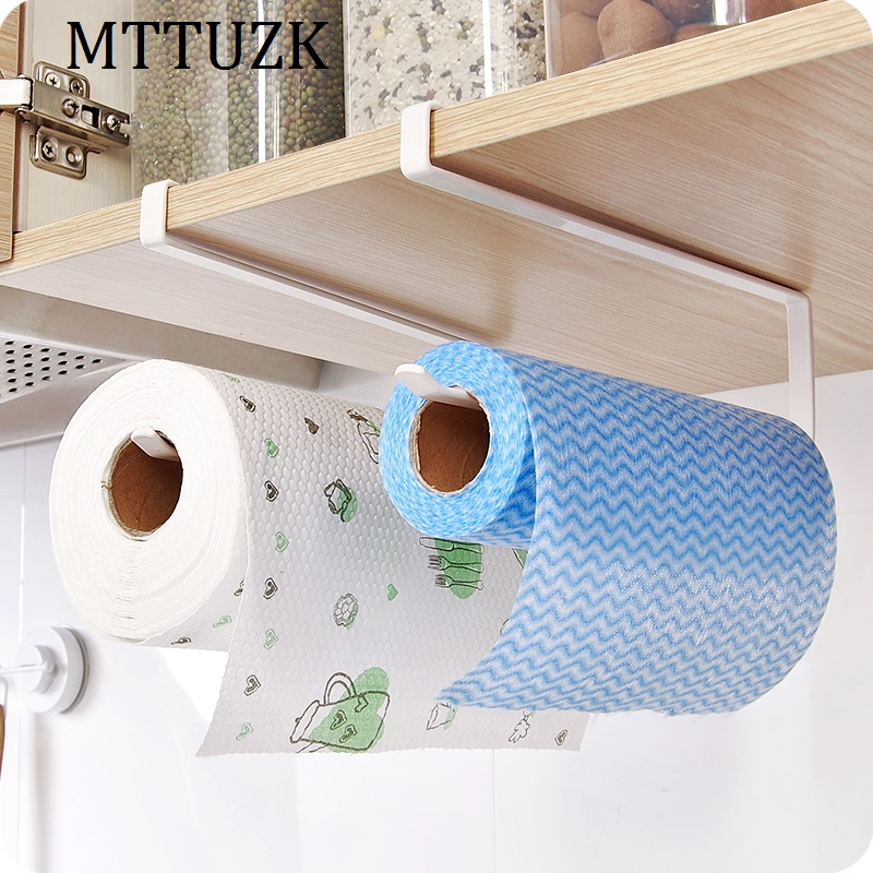 MTTUZK Creative Kitchen Paper Holder Hanging Tissue Towel Rack Toilet Roll Paper Towel Holder Kitchen Cabinet Storage Rack