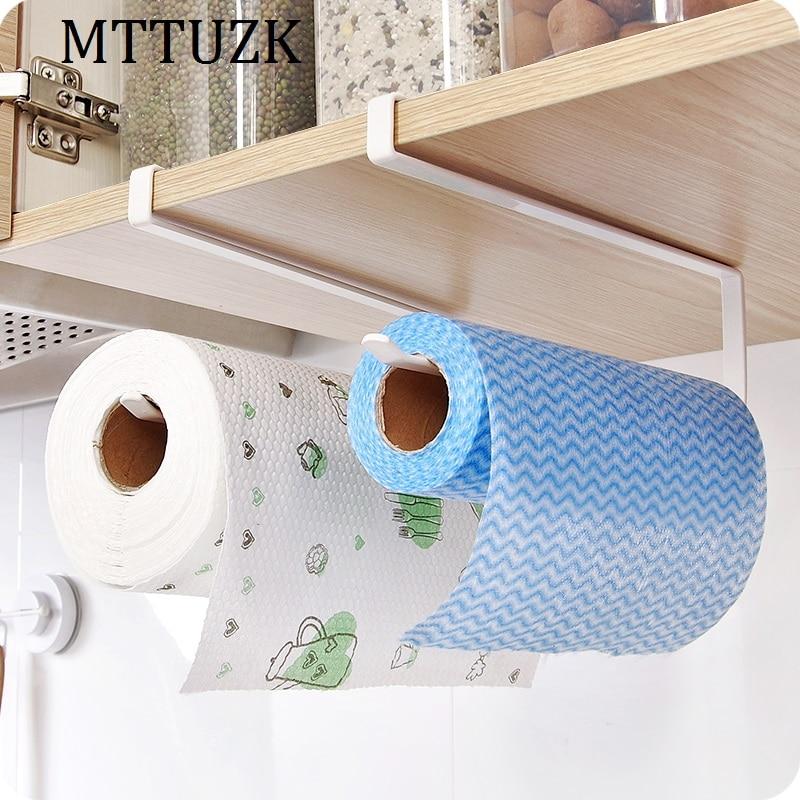 MTTUZK Creative Kitchen Paper Holder Hanging Tissue Towel Rack Toilet Roll Paper Towel Holder Kitchen Cabinet Storage Rack