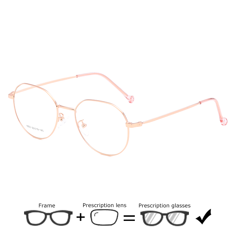 Vintage Round <font><b>Prescription</b></font> <font><b>Glasses</b></font> <font><b>Progressive</b></font> Women <font><b>Men</b></font> Fashion Myopia/Hyperopia Spectacles Male Single Vision Eye <font><b>Glasses</b></font> 642 image