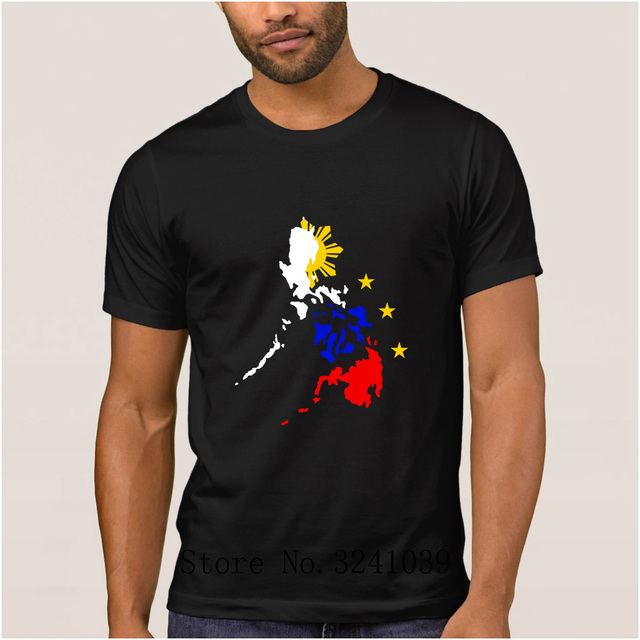 87b10312a Funny Casual map of philippines with 3 stars and sun men's t shirt cartoon  summer regular t-shirt Short Sleeve tshirt men