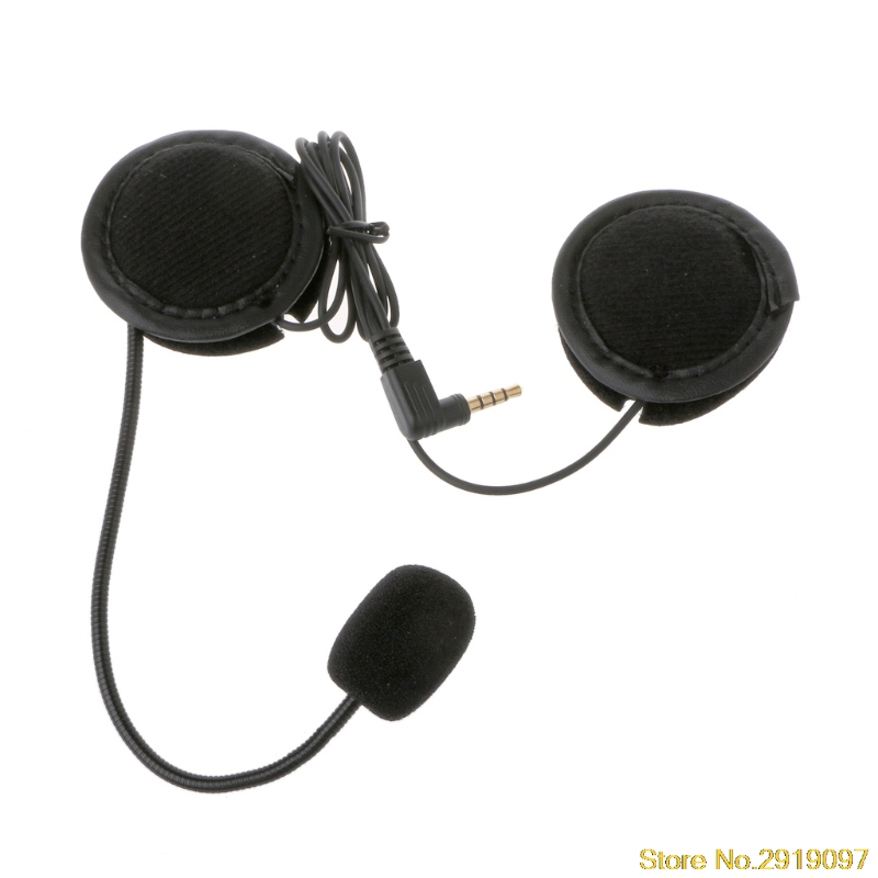 Motorcycle Helmet Headset For Microphone Speaker Soft Accessory For Motorcycle Intercom Work with 3.5mm-plug цена и фото