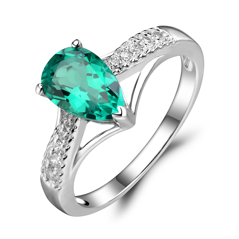 emerald bridal copy rings qc print stone unique wedding shot engagement fashion beautiful green main