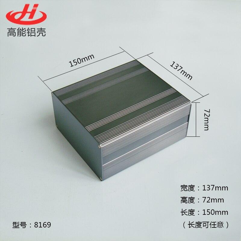 1 Piece Aluminum Housing Case For Electronics Project Case 72(H)x137(W)x150(L) Mm 8169