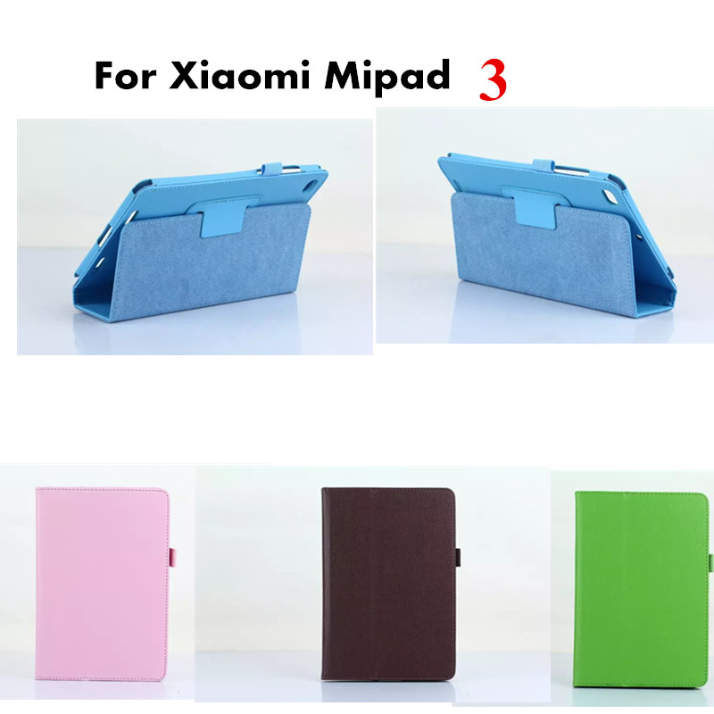 New Luxury 2-Folding Folio Stand Holder PU Leather Case Protective Cover For Xiaomi Mipad 3 Mi Pad 3 Mipad3 7.9 inch Tablet PC sl sl покрывало booker 225х240 см