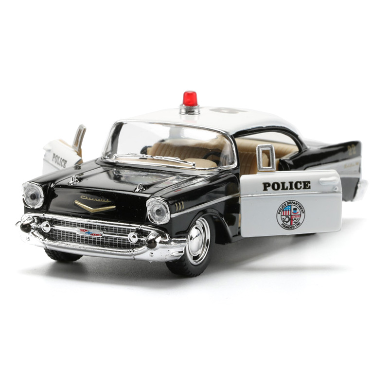 1:40 12cm Police <font><b>Cars</b></font> Toys Alloy Pull Back <font><b>Car</b></font> <font><b>Models</b></font> Collectible Doors Openable <font><b>Car</b></font> Toy Toy For Children image