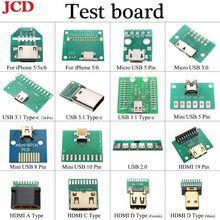 JCD For Android PCB Board Adapter Converter Charging Dock Flex Test Repair Tool for iPhone 5 5s 6 /Type C 3.1 /USB 3.0 2.0/HDMI(China)