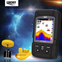 LUCKY FF718LiC Fish Finder Detector Intelligent Sonar Portable Transducer LCD Display 100m Depth Wireless Waterproof Fish Finder