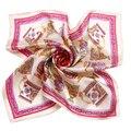 [LESIDA] розовый Фарфор Полиграфический Дизайн Атласная Крышка Шеи Теплым Бандана Девушки Обычная Малый Шелковый Квадратные Шарфы Женские Платки XF1051