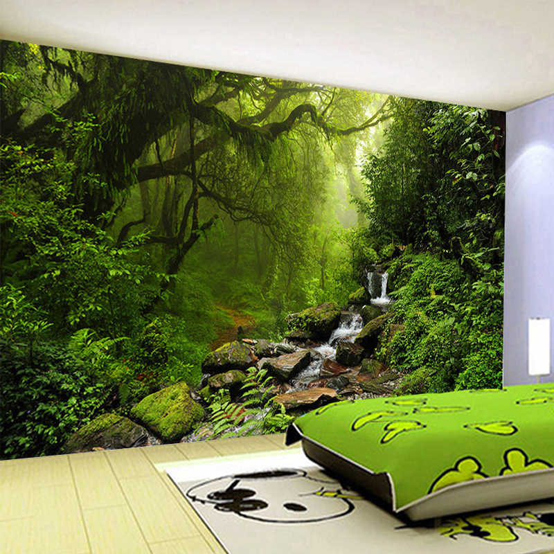 Kustom 3D Dinding Mural Wallpaper untuk Kamar Tidur Foto Latar Belakang Kertas Dinding Dekorasi Rumah Ruang Tamu Modern Lukisan Dinding Gulungan Kertas