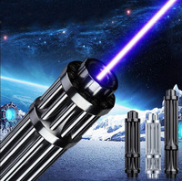 Most Powerful Adjustable Focus High Power Military Visible Beam 500000m 450nm Blue Laser Pointer With 5 Heads Light Cigarettes