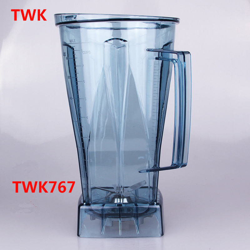 TWK-767 TWK-800 767 blender jar 2l  cup blender 767  800  Mug for smoothies blender spare parts 1set twk 767 jtc 767 tm 800 jtc blender spare parts blades knife ice crusher parts