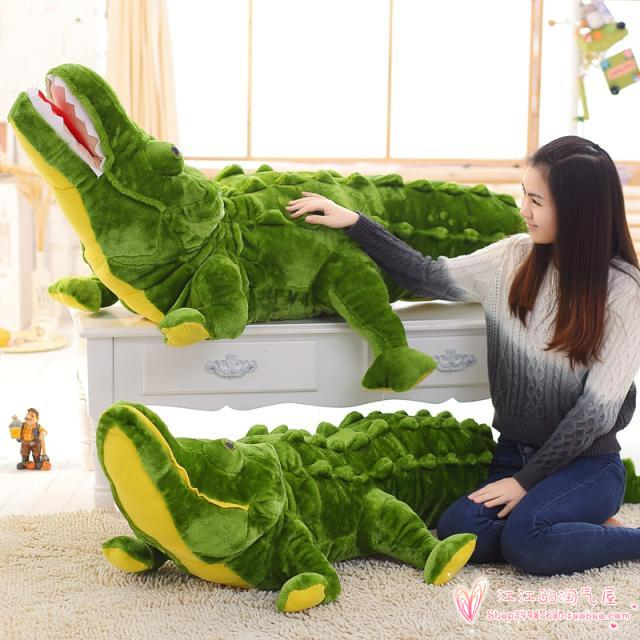 large 180cm cartoon crocodile soft plush toy throw pillow toy Christmas gift h691 cartoon panda i love you dress style glasses panda large 70cm plush toy panda doll throw pillow proposal christmas gift x025