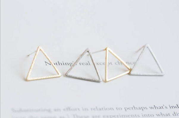 Fashion Triangle frame stud earrings wholesale free shipping
