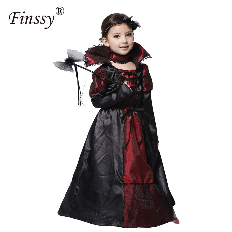 Princess Vampire Costumes For Girls Party Dress Halloween Costume For Kids Carnival Costume For Children's Day