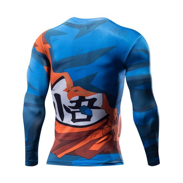 2017 New Men 3D Dragon Ball Z T Shirt Vegeta Goku 3D Printed Long Sleeve T Shirt Tee Compression Fitness Male DBZ Crossfit Tops