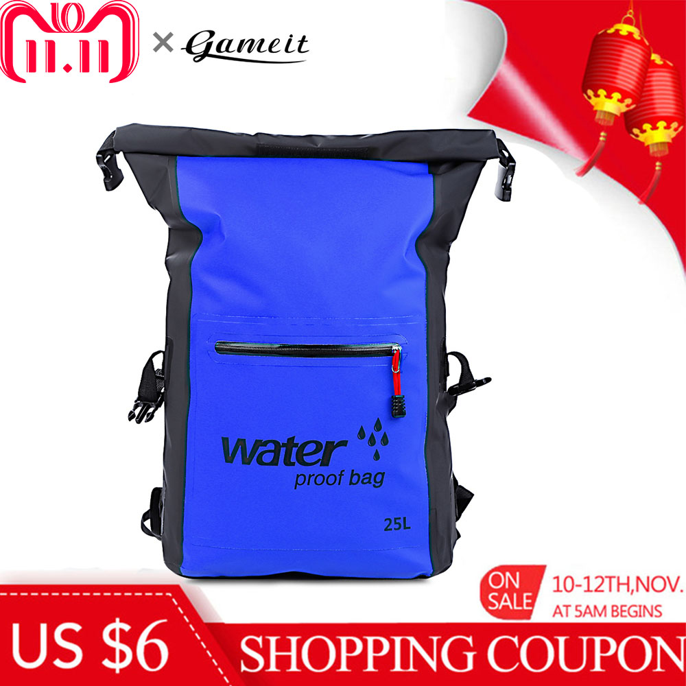 25L Schwimmen Tasche Wasserdichte Trocken Tasche Rafting Rucksack Lagerung Sport Taschen Kajak Kanu Schwimmen Rucksack Reise Kit