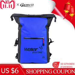25L Swimming Bag Waterproof Dry Bag Rafting Backpack Storage Sport Bags Kayaking Canoeing Swimming Backpack Travel Kit