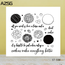 AZSG Happy delicious cookies Clear Stamps For DIY Scrapbooking/Card Making/Album Decorative Silicon Stamp Crafts