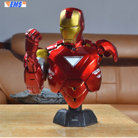 16 Statue Bust Avengers Superhero Iron Man Tony Stark MK6 1:2 GK Action Figure Collectible Model Toy BOX 40CM B418