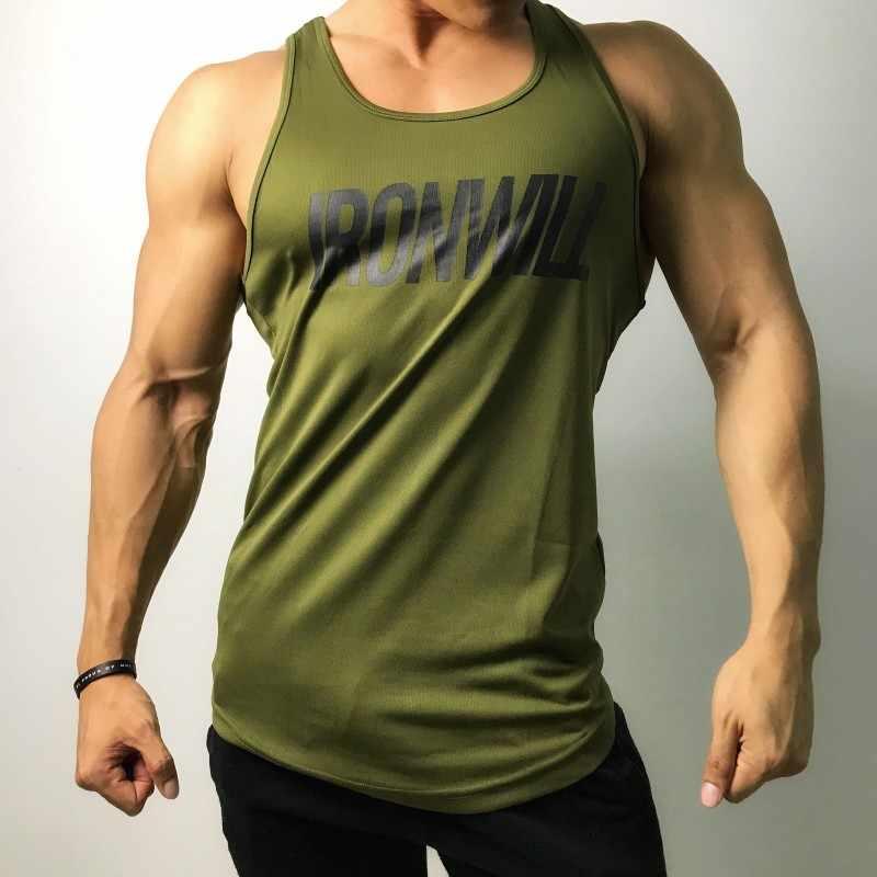 브랜드 솔리드 컬러 의류 체육관 탱크 탑 남성 피트니스 민소매 셔츠 폴리 에스테르 빈 근육 조끼 보디 빌딩 스트링거 탱크 탑