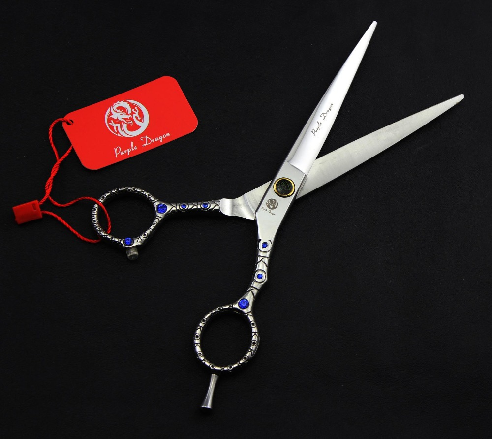 FAST Shipping! professional 7 inch Sapphire pattern handle 440C high-grade hairdressing  ...