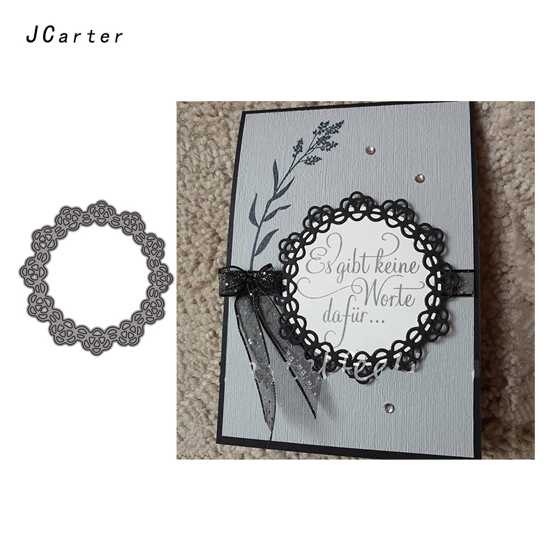 JC Metal Cutting Dies for Scrapbooking Lace Flower Circle Dies Cut Craft Die Stencil Handmade Paper Card Making Model Decoration in Cutting Dies from Home Garden