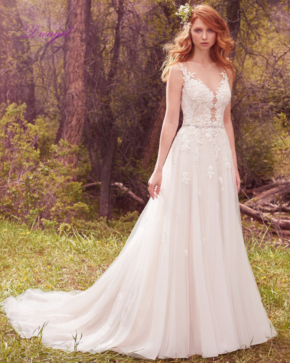 lace plunge wedding dress plunge wedding dress Lace Plunge Wedding Dress
