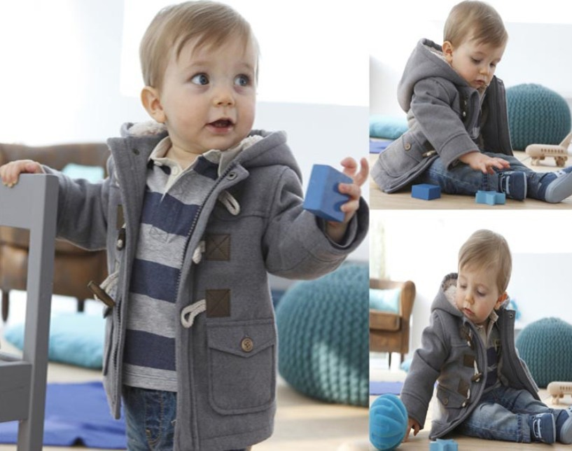 Free ship baby boys winter jacket boys clothes 2color outerwear coat 95 cotton thick kids clothes