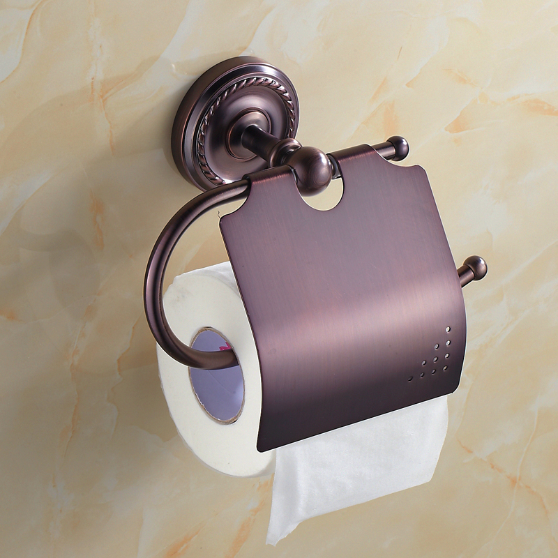 2017 Banyo Aksesuarlari Copper Roll Of Paper Special Offer New Arrival Toilet Holder Accessories For Box Rack Antique Bathroom black of toilet paper all copper toilet tissue box antique toilet paper basket american top hand cartons