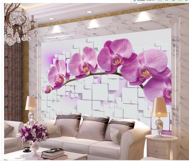 wallpaper 3d flower Orchid Box Home Decoration custom photo ...