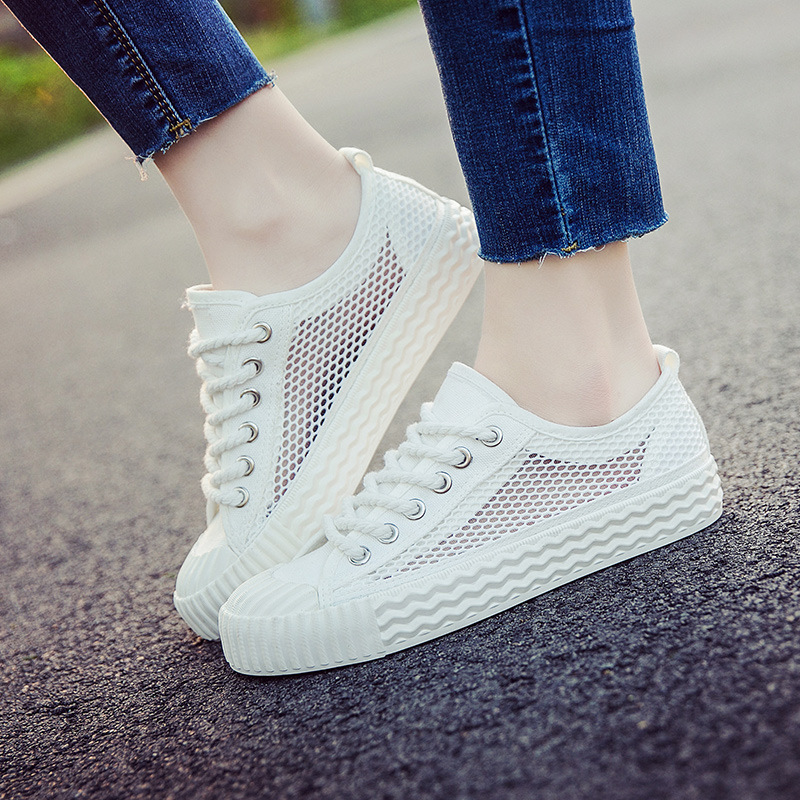 Women Shoes Summer White Casual Shoes Woman 2017 Fashion Mesh Breathable Flats Size 35-40 Ladies Trainers 2017 new summer zapato woman breathable mesh zapatillas shoes for women network soft casual shoes flats eur size 35 40