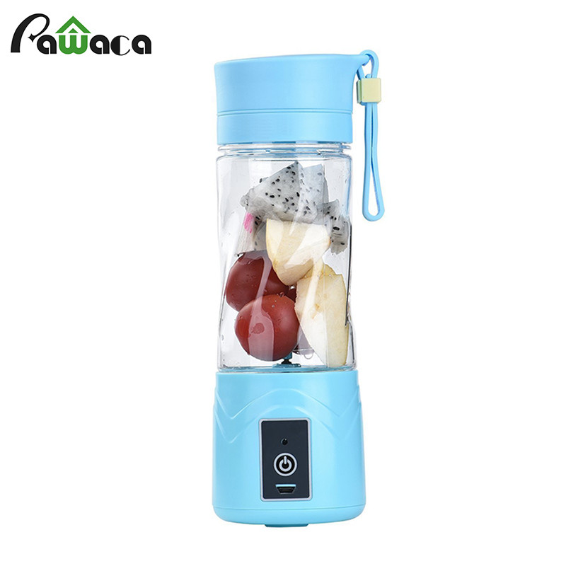 Mini 380ml USB Juicer Cup Portable Eletric Rechargeable Mixer Fruit Mixing Machine Blender with Charger Cable out doors cups