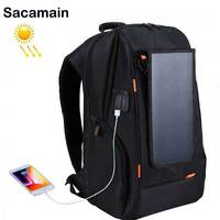 Solar Battery Backpack Solar Power Phone Charger Solar Panel Usb Fast Charge Large Capacity Laptop Backpack Business Travel Bag