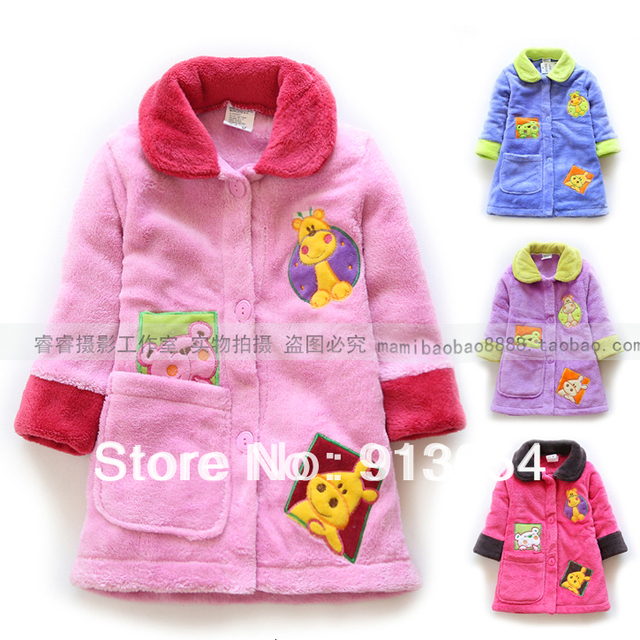Envío gratis nuevo 2014 otoño primavera albornoz del bebé ropa de bebé niño albornoz bata bebé de la ropa de noche albornoces