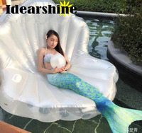Giant Pool Float Shells Inflatable In Water Floating Row Pearl Ball Scallop Aqua Loungers Floating Air Mattress Donuts Swim Ring