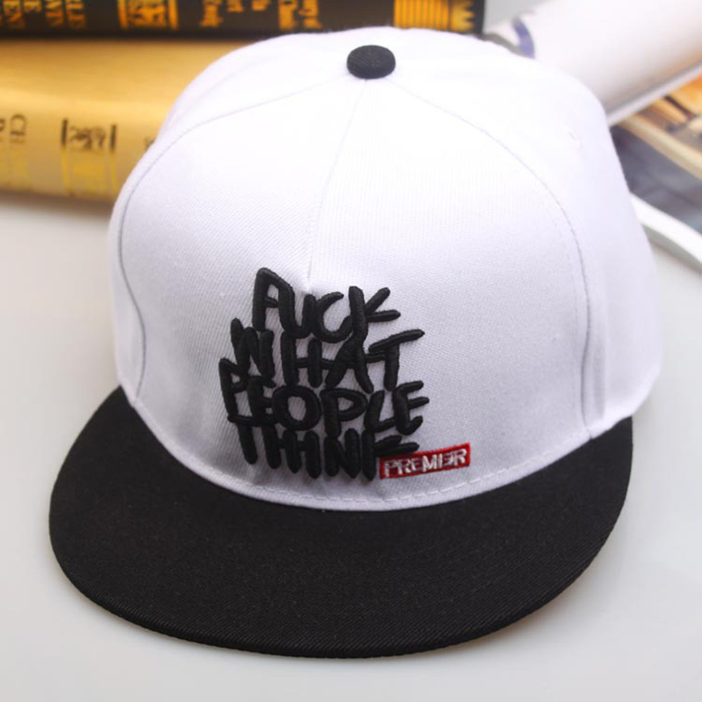 Boys Style Hip Hop Baseball Cap Adjustable Cotton casual hat Simple Letter embroidery Leisure Caps Snapback Snap Hip-Hop Hats
