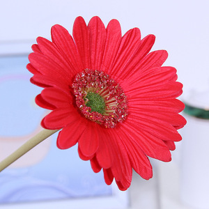 Image 4 - מלאכותי פרח PU מגע אמיתי גרברה פרח חמניות מזויף פרח מסיבת חתונת מתנות עיצוב הבית שולחן דקור