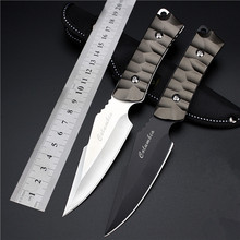Hot Sale Real Outdoor Self-defense Field High Hardness Small Straight Knife Wilderness Survival Of Folding Fruit Quality Goods