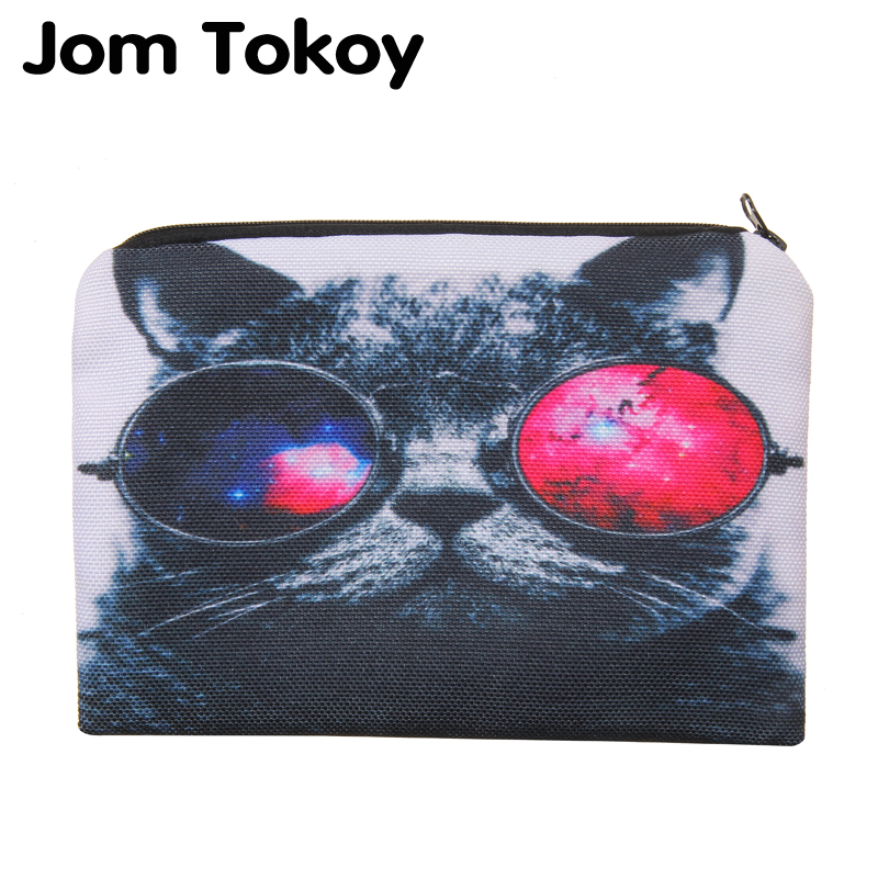 Galaxy Cat Portable Type Make up Bags Cosmetic Case Maleta de Maquiagem Bags Storage Travel Makeup Bag Brand Pencil case cosmetic bags kawaii cartoon pencil pen case cosmetic makeup bag zipper travel pouch case large contain bags mala de maquiagem 2