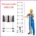 Liga de alumínio escada escadas de Alta qualidade telescópica de alumínio escada casa escada escada dobrável portátil 2.9 metros de Portas