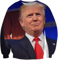 Donald Trump Crewneck Sweatshirt Don't Trust In DT Donald John Trump Zombie Hoodies Women Men Jumper Outfits Shirts Tops Sweats