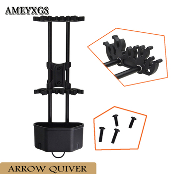 1pc Archery Arrow Quiver Quick Detach Arrow Holder Release Lock 5 Arrows Mount Rack Hunting Shooting Bow And Arrow Accessories фото